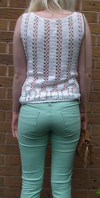 Sammi Jackson - crochet top & mint