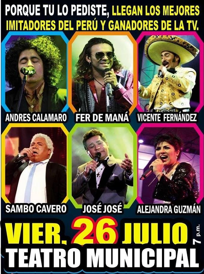 Los mejores imitadores de Yo Soy en Arequipa (26 de julio)