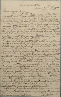 Letter from Thomas Reeves to cousin Mary Lynch in Orange County
