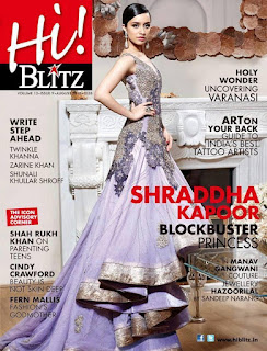 Shraddha Kapoor on the Cover page of Blitz Magazine August 2015