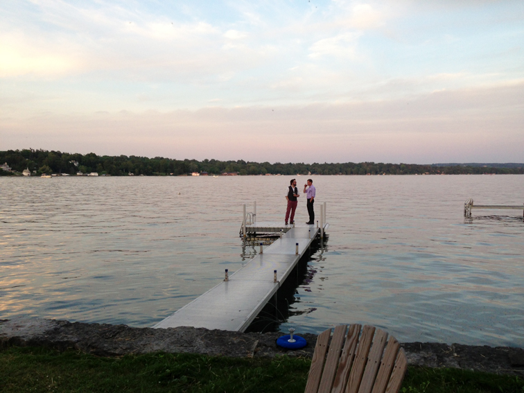 Lake Skaneateles Dock Summer