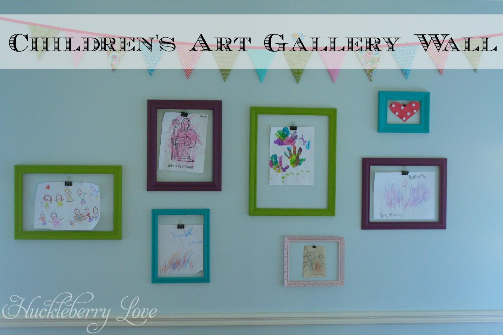 Huckleberry Love: DIY Children\'s Art Gallery