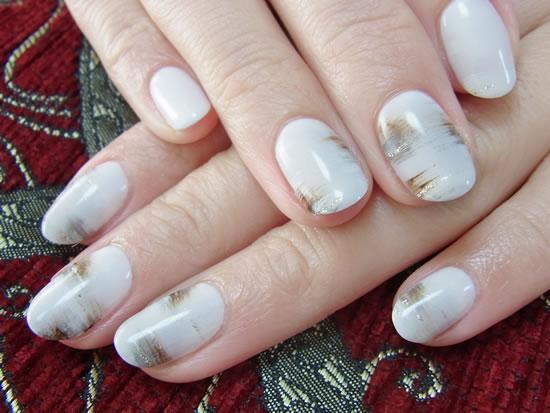 白樺の木ネイル