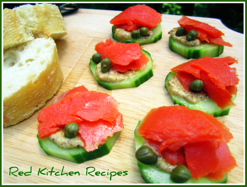 Salmon canapes recipes dishmaps for Salmon canape ideas