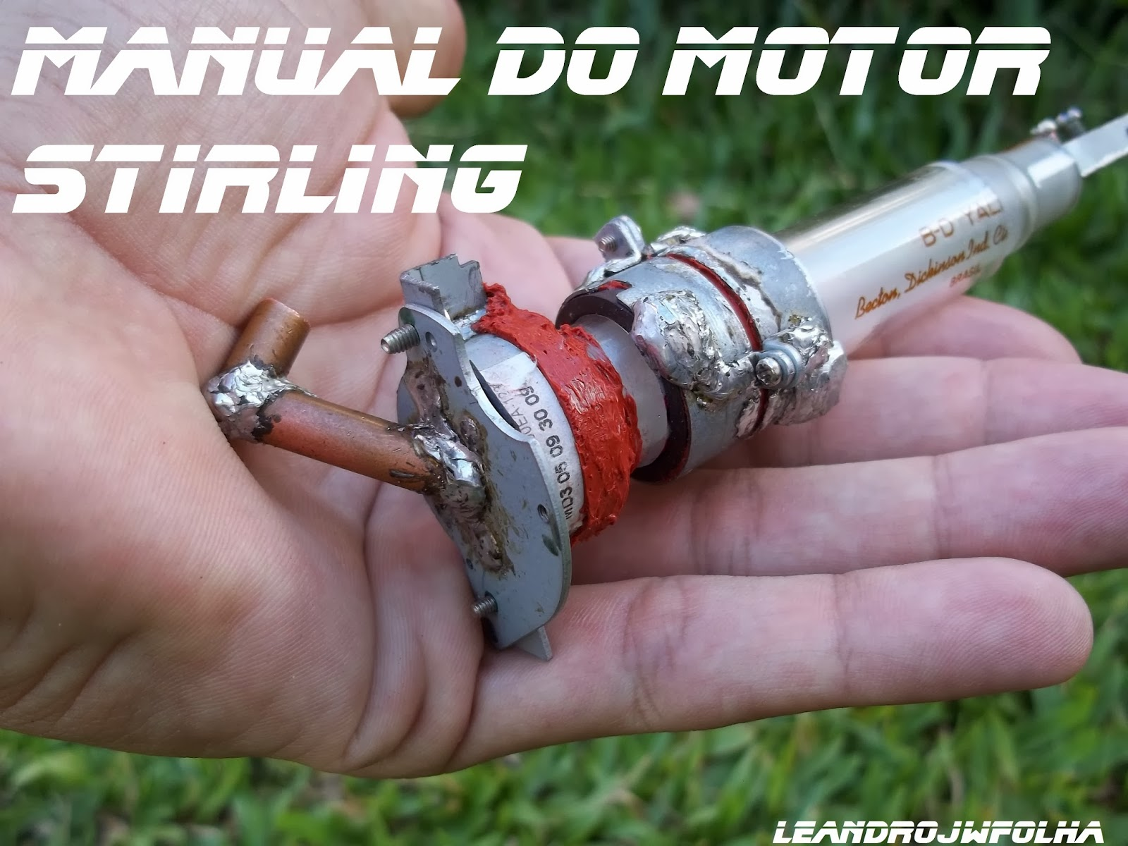 Manual do motor Stirling, cilindro frio do motor Alfa