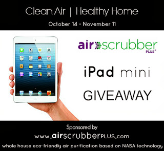 Enter the Air Scrubber Plus iPad Mini Giveaway ends 11/11.