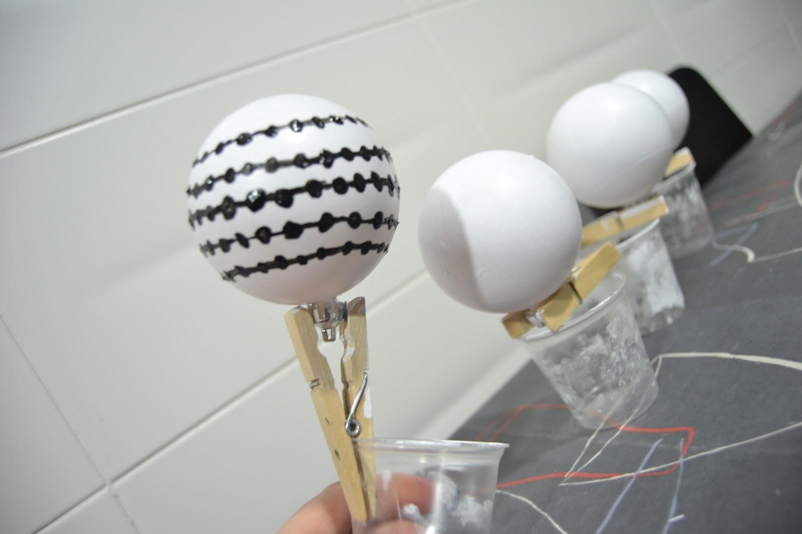 De retales d manualidades bola de navidad - Manualidades con bolas de navidad ...