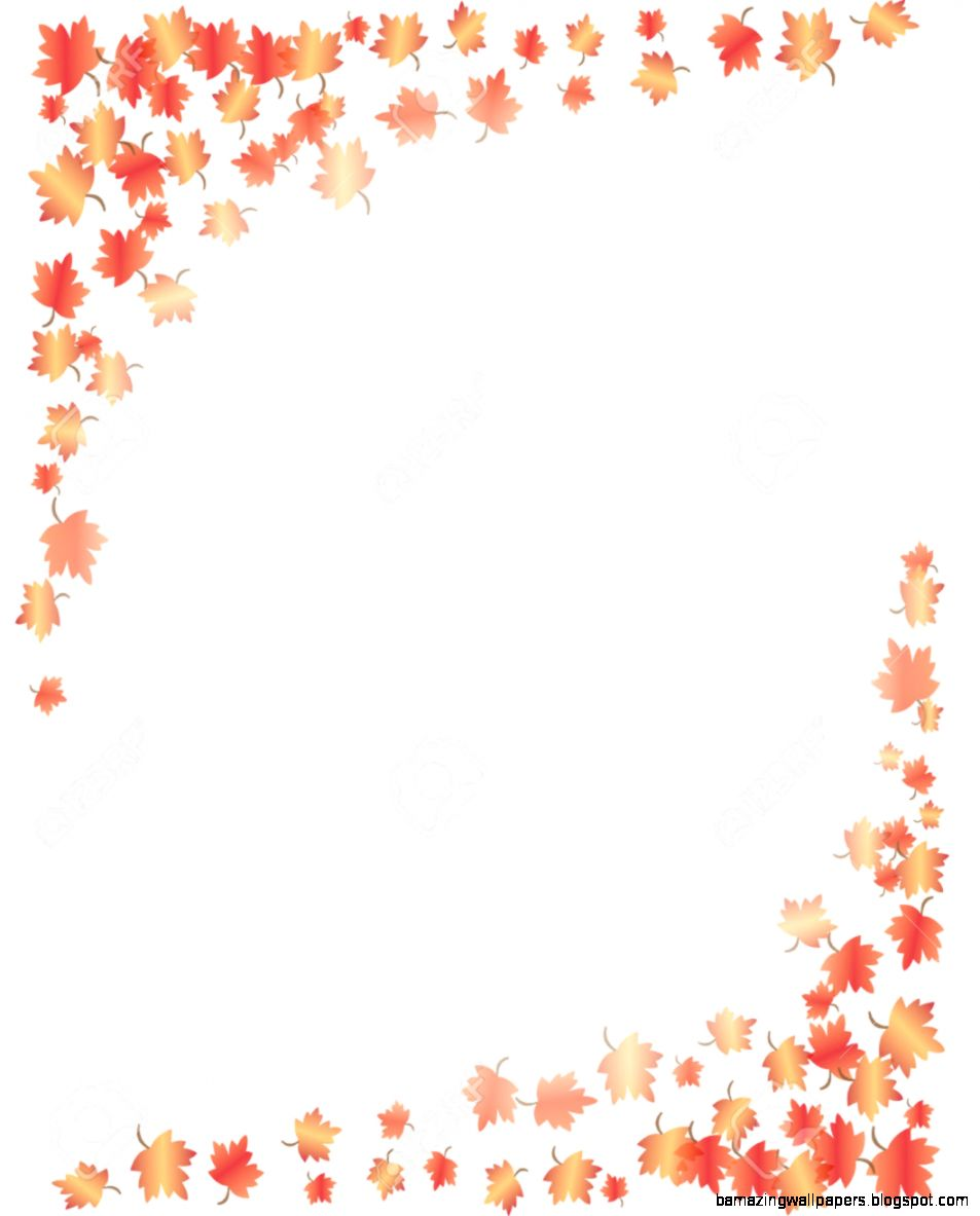 Fall Leaves Border Royalty Free Cliparts Vectors And Stock