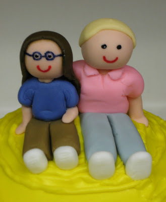Therapy Exercise Ball Cake - Close-Up of Fondant People