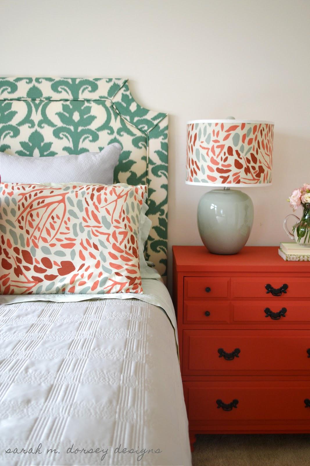 Diy bed headboard fabric - Diy Belgrave Headboard With Ikat Fabric For The Guest Bedroom