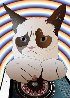 ipad roulette is no match for grumpy cat ninja