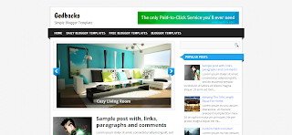 Gedbacko Blogger Template is a magazine style blogger template