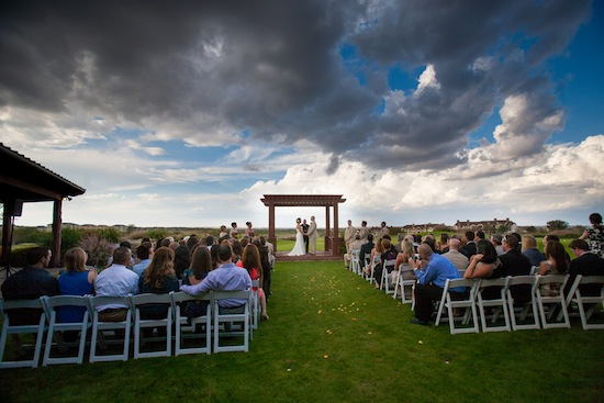gorgeous ceremony shot of the Texas Hill Country