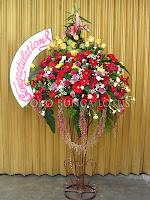 bunga standing mewah happy wedding, congratulations