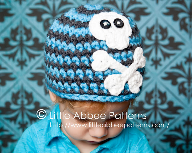 Free Crochet Pattern For Skull Beanie : Little Abbee: Skull Cap Crochet Pattern