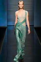 вечерна рокля сатен и дантела Alberta Ferretti