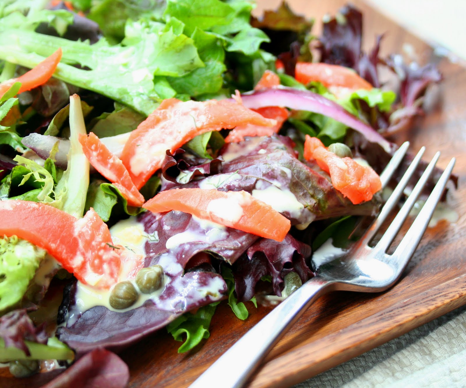Smoked Salmon Salad with Dilled Bearnaise Dressing | All Day I Dream ...