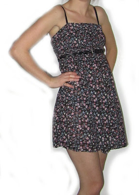 dress,remade, recycled, fabric, sewn, handmade, thread, zips, pattern, floral, flower