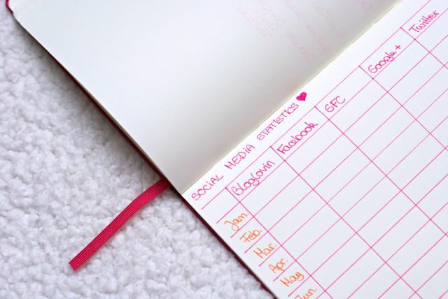 diy blog planner 2015 social media statistics