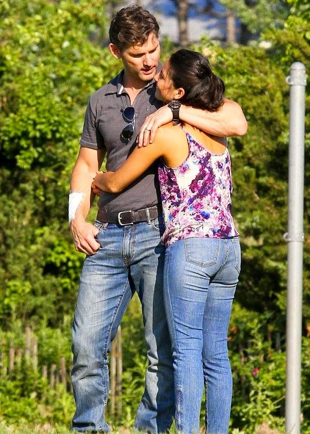 Eric Bana with Olivia Munn