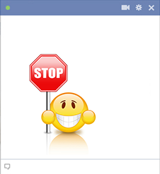 Stop emoticon