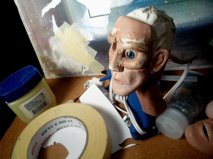 Stopmotion Puppet head © 2012 Jeff Lafferty
