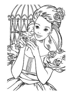 imagens para colorir e imprimir da barbie moda e magia - Desenhos da Barbie para pintar e imprimir Jogos da Barbie