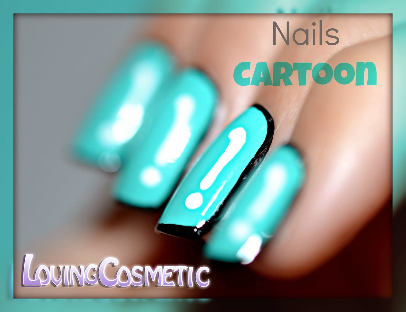 Nail art cartoon uñas diseño manicura manicure nails easy comic