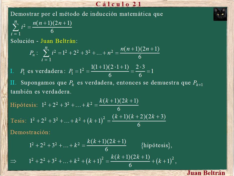 ejercicios de induccion matematica: