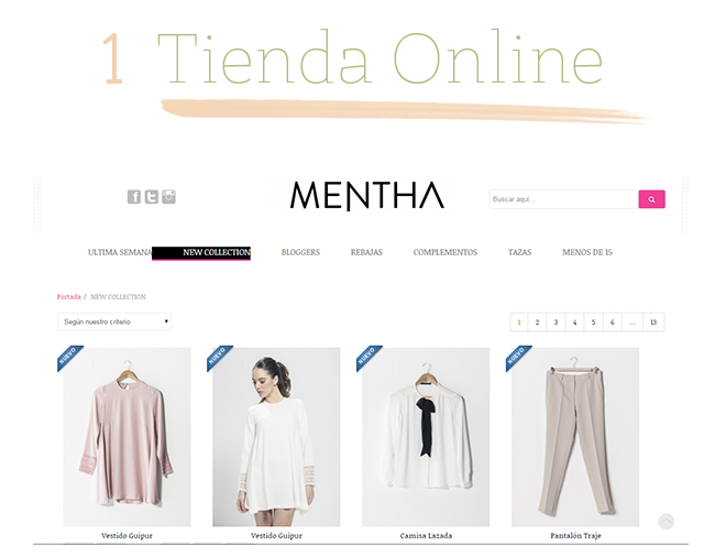 Mentha shop ropa casual
