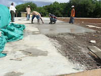 Concrete poured on Dover Hard Court
