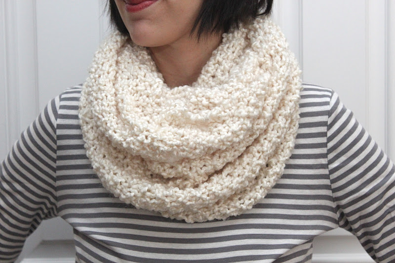 Simple Knit Cowl Pattern : The Runaround Knit Cowl-FREE PATTERN - Smashed Peas & Carrots