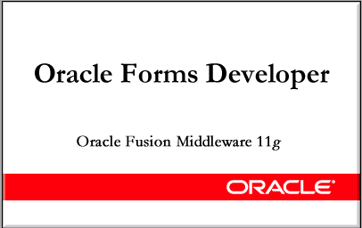 Oracle Forms Developer