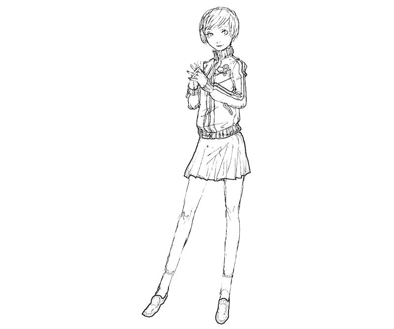 printable-chie-satonaka-draw-coloring-pages