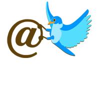 twitter kuş, twitter mention, @ işareti, @, et işareti, mail işareti,