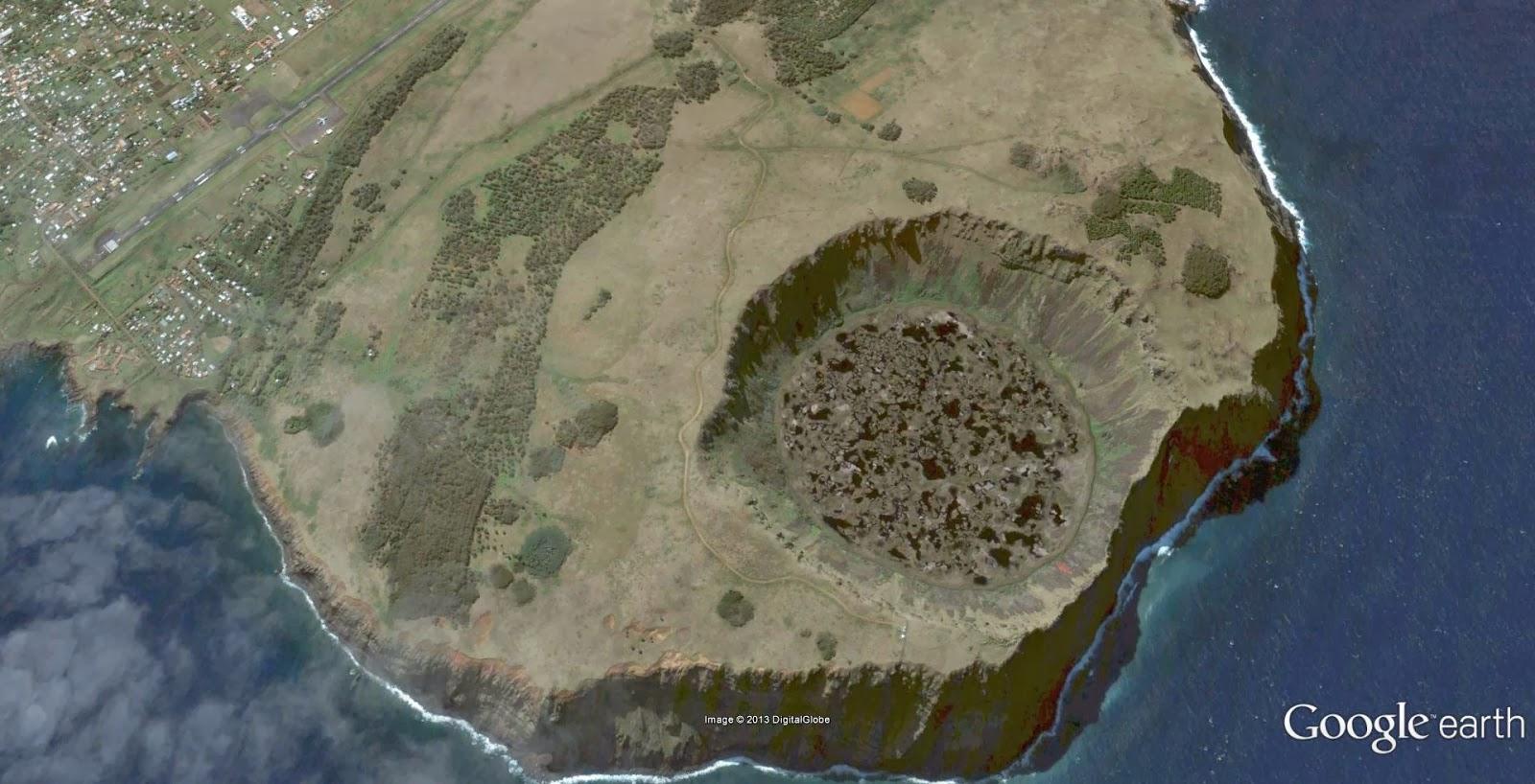 stop frames of the planet easter island rapa nui isla