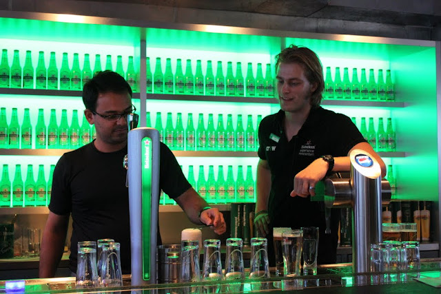Challenge yourself to be the perfect Heineken Draughtmaster at Heineken Experience Museum in Amsterdam, Netherlands