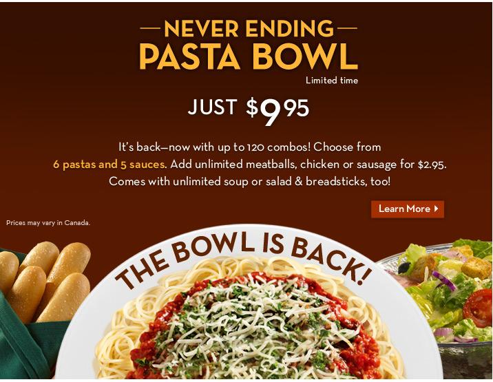 Olive Garden Copycat Recipes Never Ending Pasta