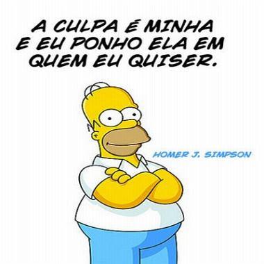 A culpa é minha e eu ponho ela em quem eu quiser - Homer Simpson