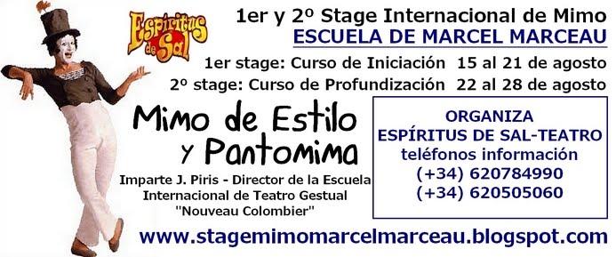 STAGE INTERNACIONAL-organiza Espíritus de sal - teatro