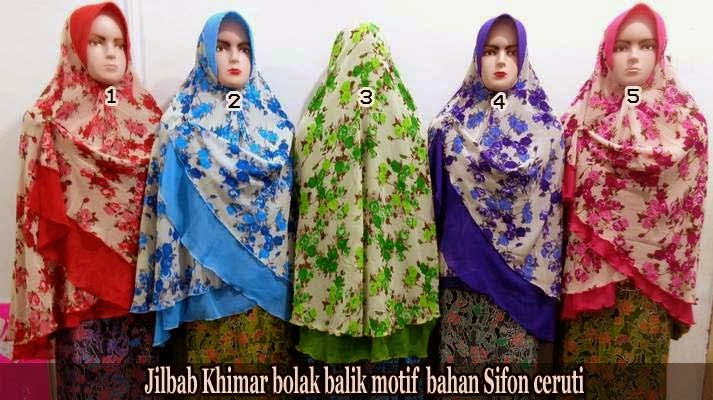 Jilbab khimar syar'i jumbo polos dan motif