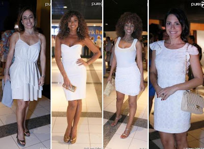 Cissa Guimarães, Cris Vianna, Isabel Fillardis e Juliana Knust apostam no branco básico em seus looks no show de Roberto Carlos. Inspiração para Reveillon 2013.