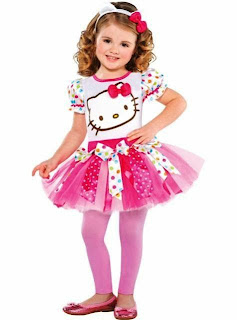 Gambar anak kecil cantik pakai dress tutu hello kitty
