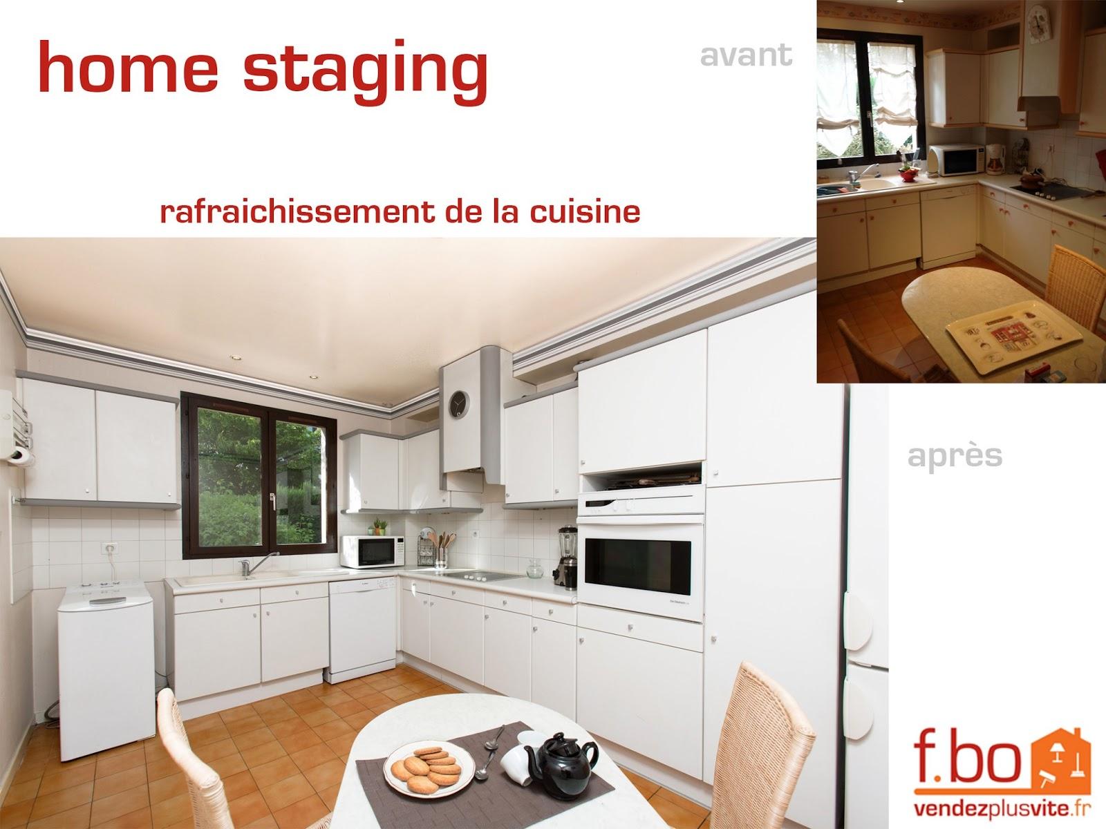 Vendez plus vite votre bien ma derni re r alisation en - Cuisine home staging ...