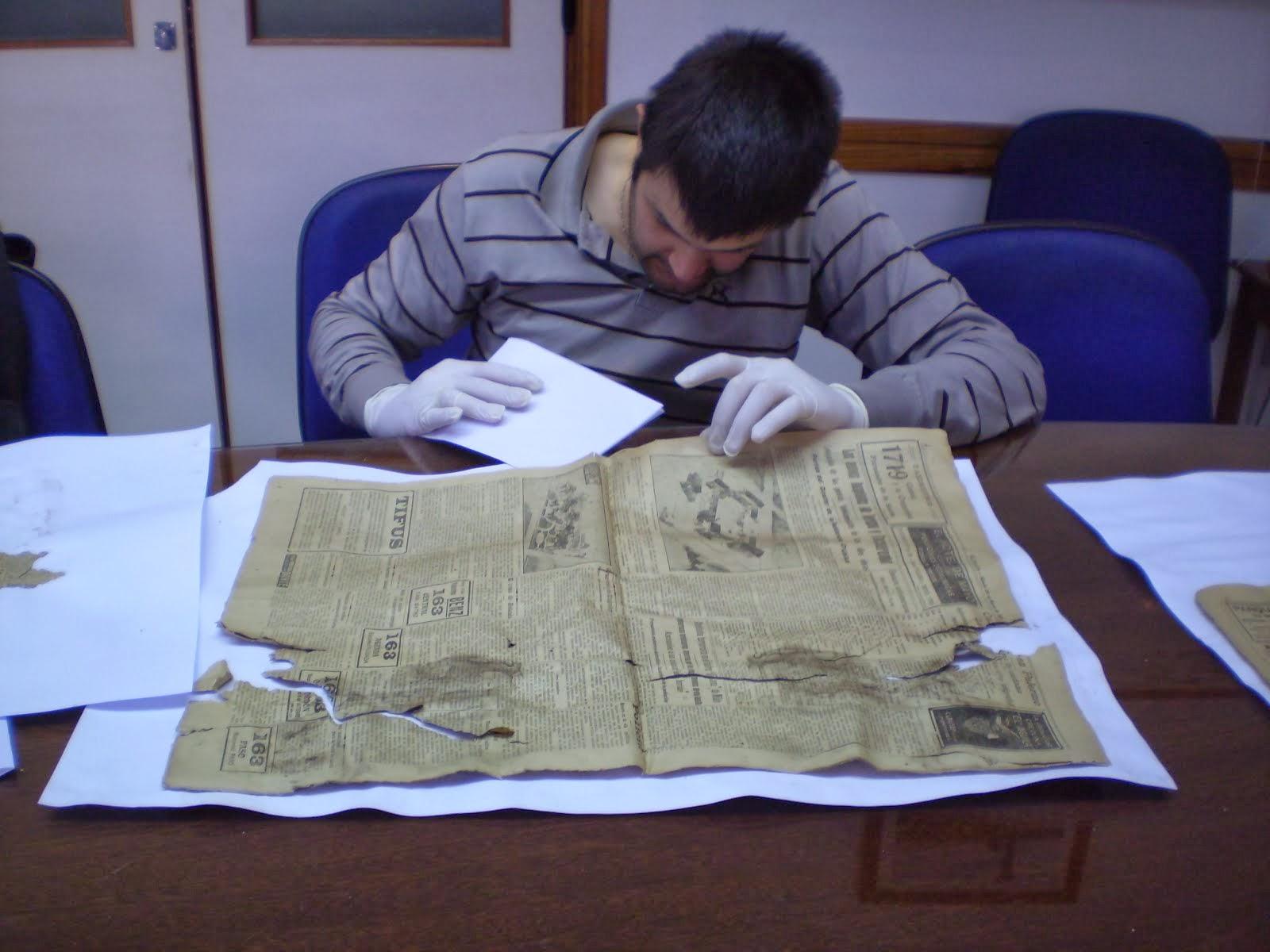Hospital de Tacuarembó - 2013 - Conservación del contenido de la Caja Fundacional colocada en1921