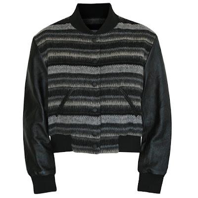 steven alan ron herman wool leather baseball jacket