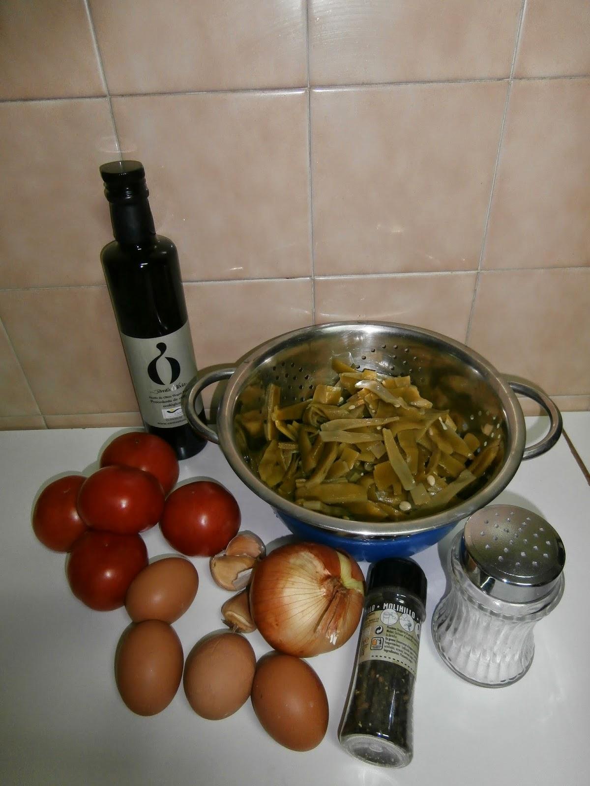Cocinando con la family judias verdes con tomate y huevo for Cocinar con olla gm