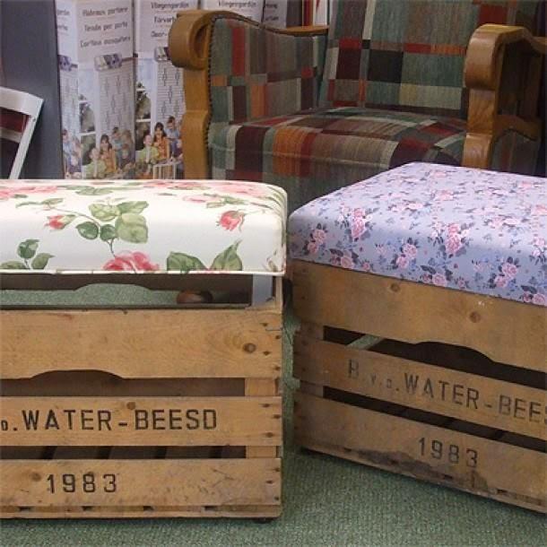 Tutorial de artesan as 10 ideas de muebles neor sticos - Cajones de fruta de madera ...