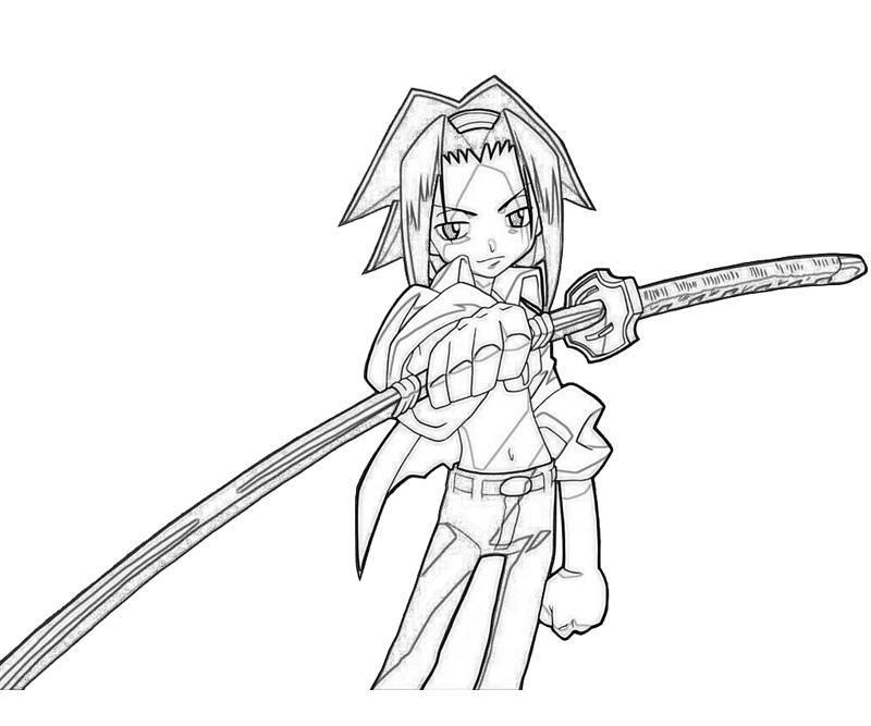 shaman-king-yoh-asakura-sword-coloring-pages