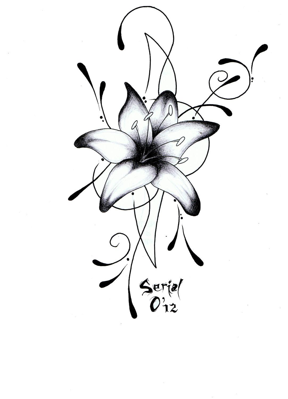 Bombom art 39 s tattoo lys arabesque - Dessins fleur ...